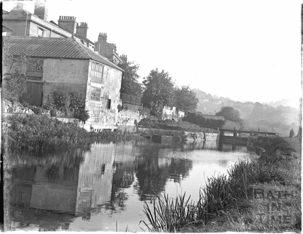 The Kennet and Avon Canal, Sydney Buildings, Bathwick, Bath c.1910