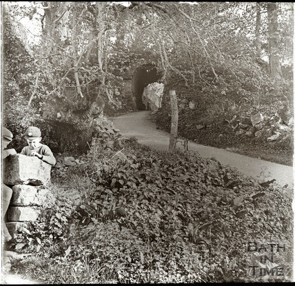 The photographer's twin boys at Popes Walk, Widcombe c.1920s
