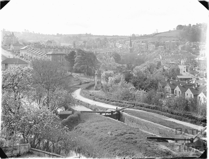 The Kennet and Avon Canal, Sydney Buildings, Bathwick, Bath c.1958-9