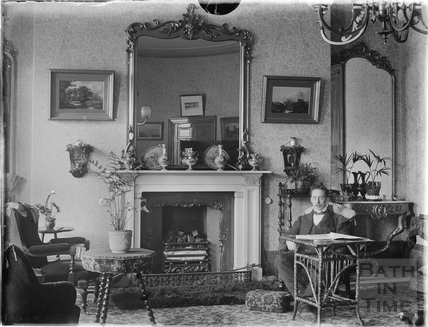 Inside the photographer's house at Great Pulteney Street c.1900s