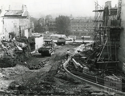 Constructing Saracen Street to link Broad Street with Walcot Street 27 Aug 1970