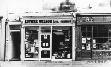 Luther Wilson, Chemist, Westgate Street 6 April 1989