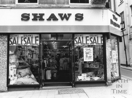 Shaws the Drapers in Westgate Street, 1993