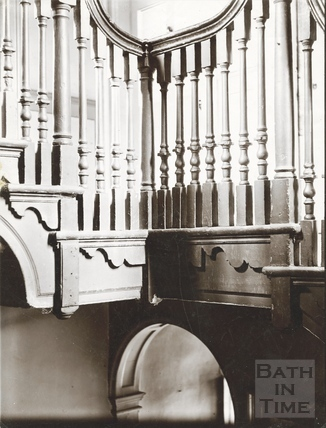 Staircase, Chandos House, Chandos Buildings, Bath c.1903