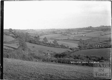View of Wellow from the hills, c.1930s