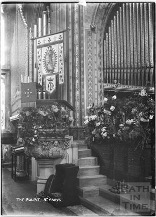 The Pulpit, St Mary's Church, Bathwick c.1912