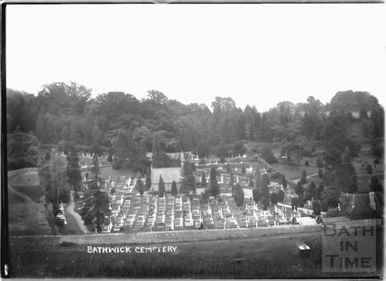View of Bathwick Cemetery c.1920s