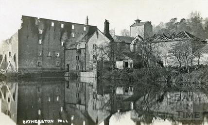 Batheaston Mill, destroyed by fire Nov 14 1909