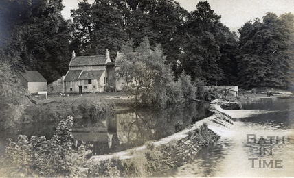 Bathampton Mill and weir c.1910