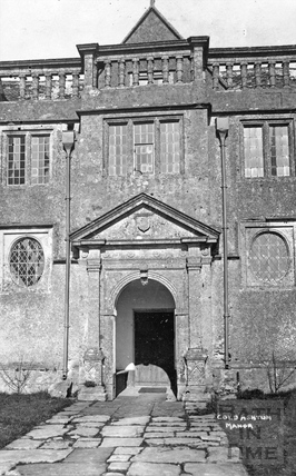 Entrance to Cold Ashton Manor c.1920
