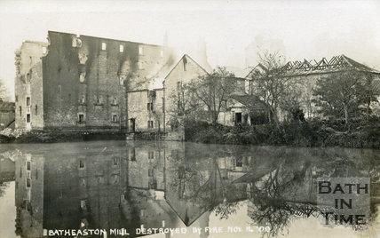 Batheaston Mill, destroyed by fire Nov 14 1909