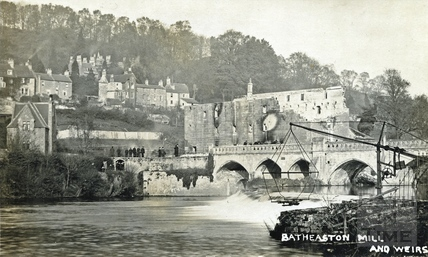 Batheaston Mill and Weirs, destroyed by fire Nov 14 1909