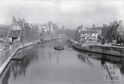 View from Old Bridge Bath, 1892
