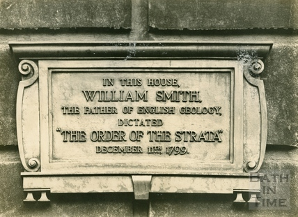 Commemorative tablet for William Smith outside 29 Great Pulteney Street, home of the Rev. Townsend c.1920