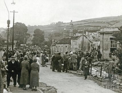 Floods in Larkhall, 1932