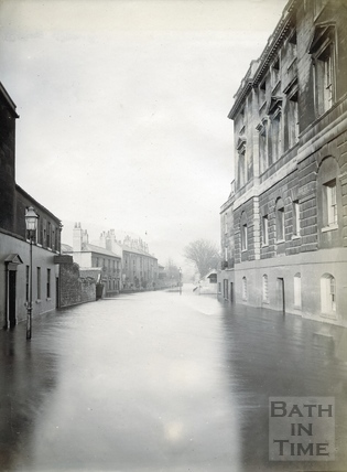 Grove Street in flood 1894