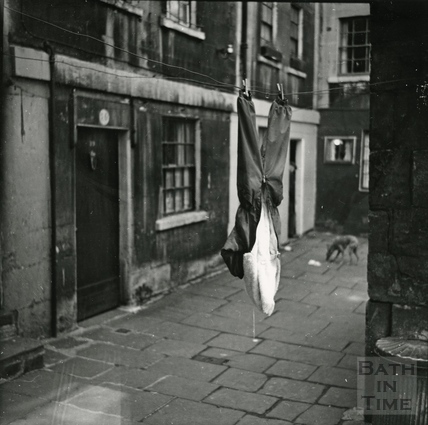 Washing hanging out to dry, Broad Street Place c.1960s