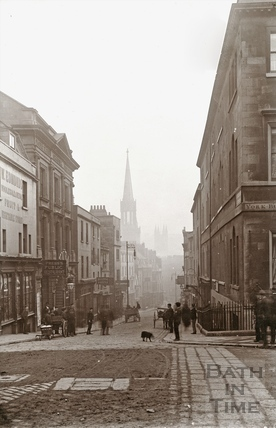 View down Broad Street from George Street 1897