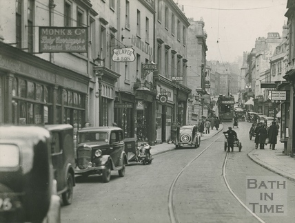 Looking up Broad Street, c.1920s