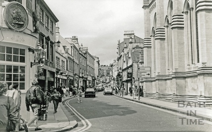 Looking up Broad Street from the corner of Green Street July 1988