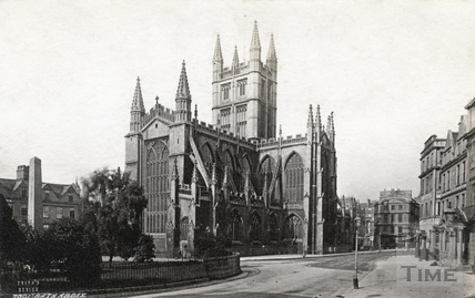 View of Bath Abbey from the Orange Grove 1874