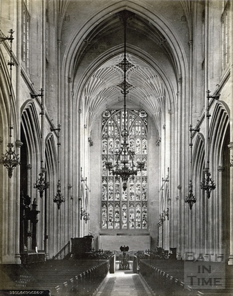 The nave, Bath Abbey, Bath 1874