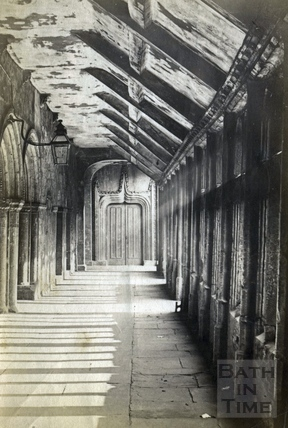 Inside Bath Abbey c.1870?