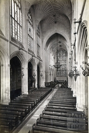 Inside Bath Abbey c.1870?