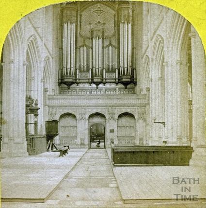 The organ, Bath Abbey, Bath c.1865