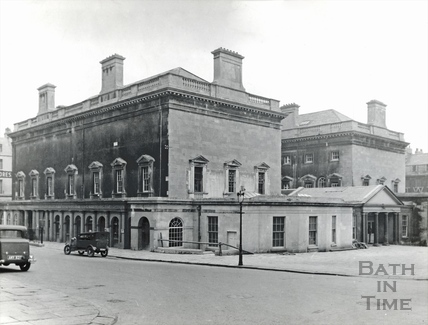 The Assembly Rooms, north and west sides during restoration 1937