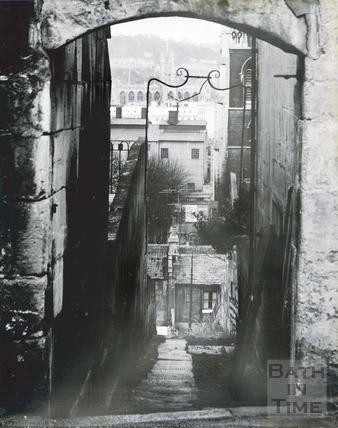Calton Road, on the left the entrance to Upper Trafalgar Road, on the right New Trafalgar Place, Holloway, Nov 1965