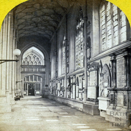 South aisle, Bath Abbey, Bath c.1862