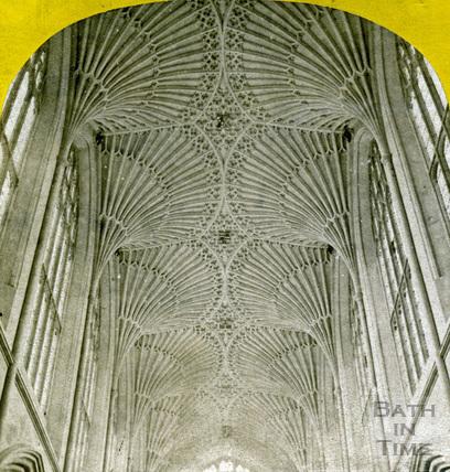 The ceiling, Bath Abbey, Bath c.1870