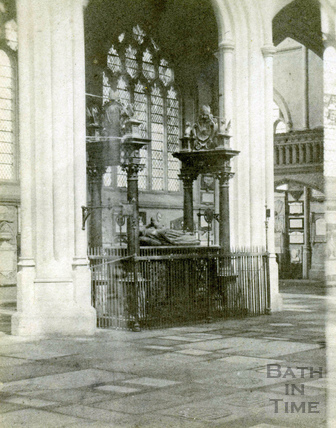 Bishop Montague's Tomb, inside Bath Abbey 1863
