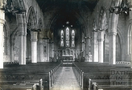 Interior of St. Andrew's Church, Julian Road, Bath 1902