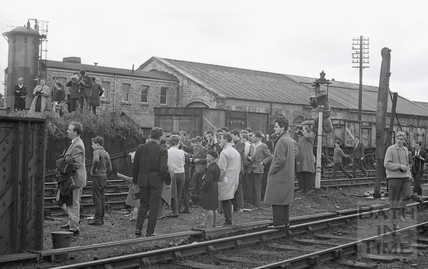 Railway enthusiasts waiting at Green Park Station 7th June 1964