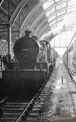 Engine 53807 at Green Park Station c.1964