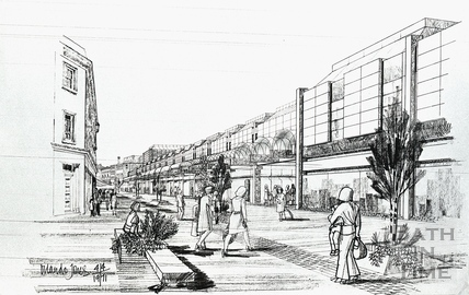 Artists impression of the new (old) Southgate Development 4 April 1971