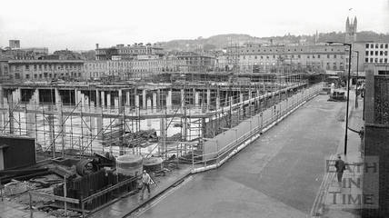 Southgate Development, looking up Newark Street Dec 1972