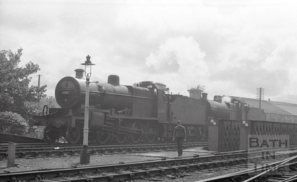 Engine 53807 approaching Green Park Station c.1964