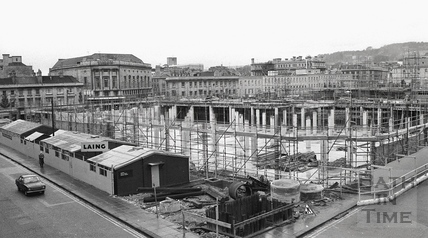 Southgate Development from the corner of Dorchester and Newark Street, Dec 1972