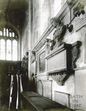 The Hobart Memorial at Bath Abbey c.1894