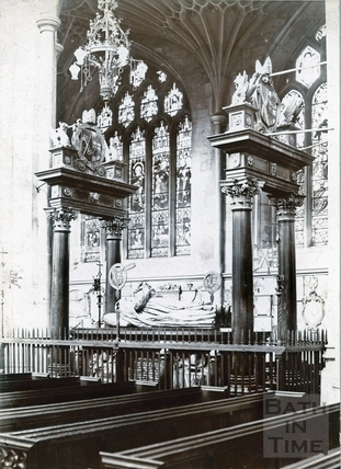 Bishop Montague's Tomb, inside Bath Abbey, looking N.W. c.1894