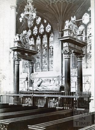 Bishop Montague's Tomb, inside Bath Abbey, looking N.W. c.1894