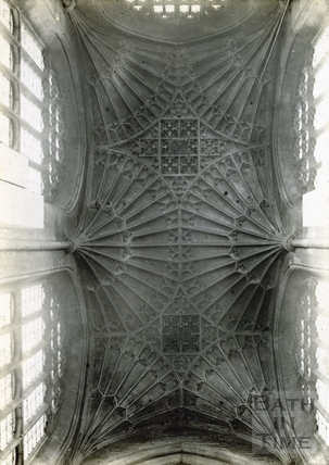 Bath Abbey north transept fan vaulting c.1894