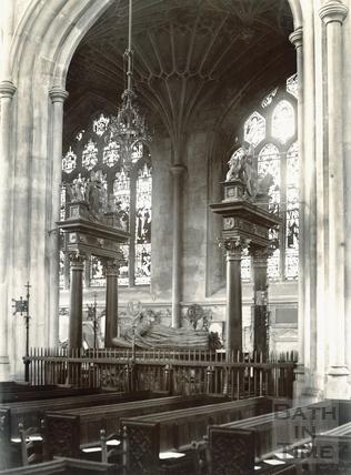 Tomb of Bishop Montague, Bath Abbey c.1900