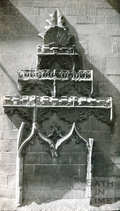Prior Bird's Chantry chapel, detail of interior Bath Abbey 1945