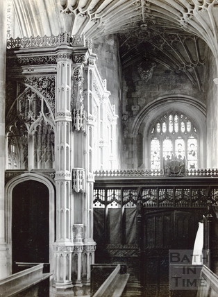 Prior Bird's Chantry chapel, Bath Abbey c.1894