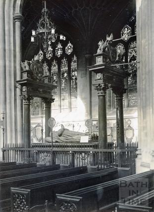 Bishop Montague's Tomb, inside Bath Abbey c.1950
