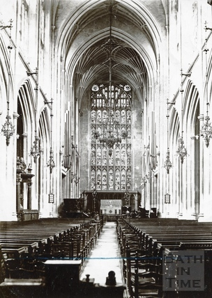 Bath Abbey interior. The Nave looking east c.1900?